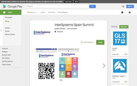 InterSystems Spain Summit - Android Apps on Google Play