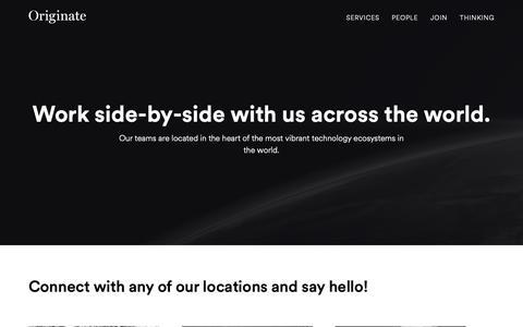 Screenshot of Contact Page originate.com - Contact   Originate - captured Dec. 12, 2018