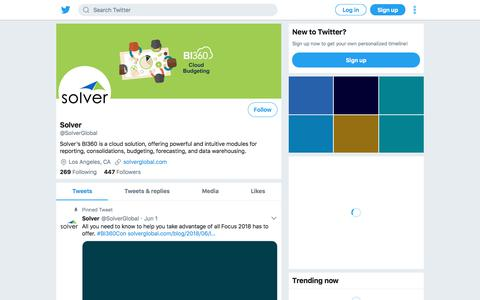 Tweets by Solver (@SolverGlobal) – Twitter