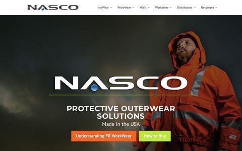 Screenshot of Home Page nascoinc.com - Home - NASCO Industries - captured Sept. 24, 2018