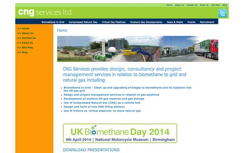 Screenshot of Home Page cngservices.co.uk - Home » CNG Services - captured Oct. 1, 2014