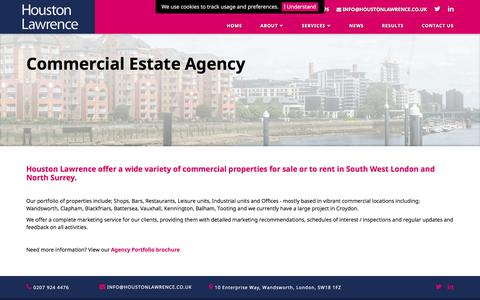Screenshot of Services Page houstonlawrence.co.uk - Houston Lawrence - Commercial Estate Agency - captured May 23, 2017