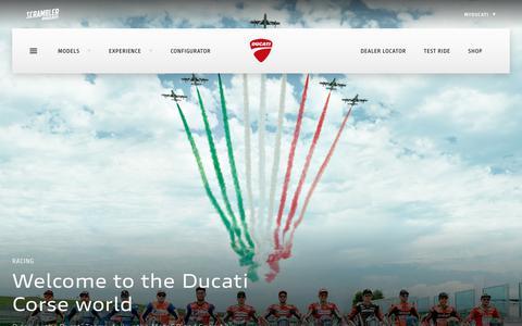 Screenshot of Press Page ducati.com - Ducati Corse - captured Oct. 9, 2018