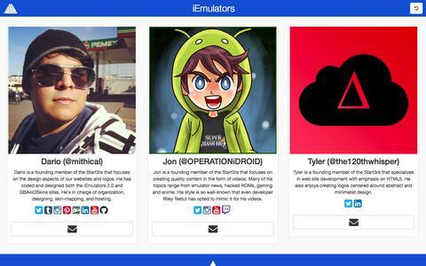 Screenshot of Team Page iemulators.com - iEmulators - captured Oct. 31, 2014