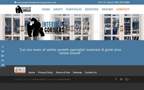 Screenshot of Team Page internetgorillas.com - Management - Internet Gorillas - captured Nov. 26, 2016