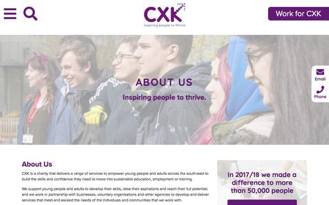 Screenshot of About Page cxk.org - About Us - cxk - captured Sept. 26, 2018