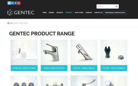 Screenshot of Products Page gentecaustralia.com.au - Gentec Product Range Archives - Gentec Australia - captured Sept. 27, 2018