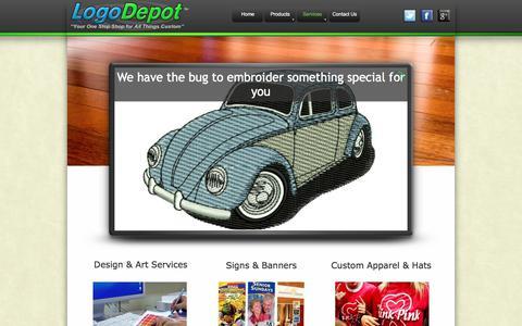 Screenshot of Services Page logodepotusa.com - Logo Depot Services - captured Aug. 24, 2017