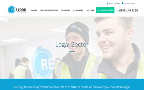 Screenshot of Terms Page shredding.info - Secure Shredding Service for UK Law Firms | Restore Datashred - captured July 12, 2017