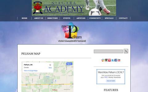 Screenshot of Maps & Directions Page mypelham.com - MyPelham.com - captured Oct. 28, 2014