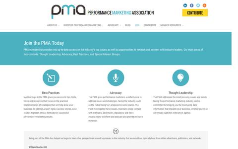 Screenshot of Signup Page thepma.org - Join the PMA Today | The PMA - captured Jan. 19, 2016