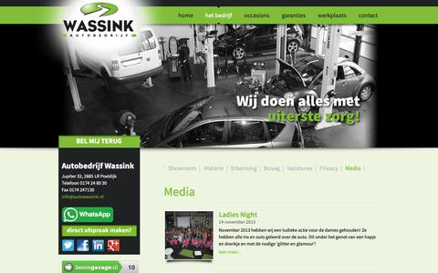 Screenshot of Press Page autowassink.nl - Ladies Night - captured Oct. 4, 2018