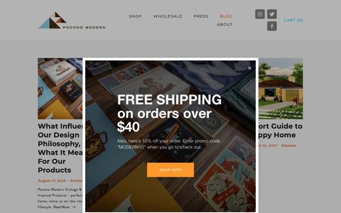 Screenshot of Blog poconomodern.com - Pocono Modern Blog — Pocono Modern - captured Nov. 5, 2018