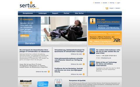 Screenshot of Login Page sertus.de - Sertus Technology GmbH: Überblick - captured Oct. 3, 2014