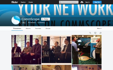 Screenshot of Flickr Page flickr.com - CommScope | Flickr - Photo Sharing! - captured Nov. 10, 2015