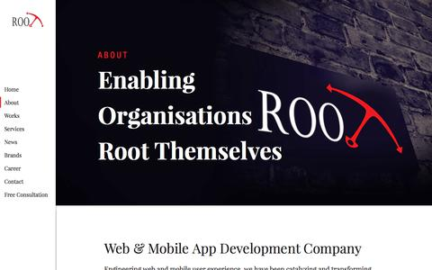 Screenshot of About Page rootinfosol.com - Website and Mobile App Development Company in UK- Rootinfosol - captured Aug. 2, 2018