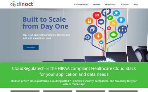 Screenshot of Home Page dinoct.com - Home Page - dinoct.com - captured Feb. 9, 2016
