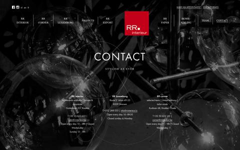Screenshot of Contact Page rrinterieur.be - Contact -  RR Interieur - captured Nov. 10, 2017
