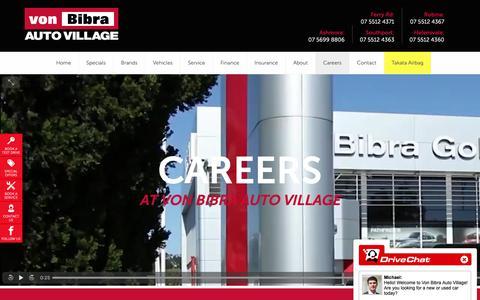 Screenshot of Jobs Page vonbibra.com.au - Careers - von Bibra - captured Oct. 19, 2018