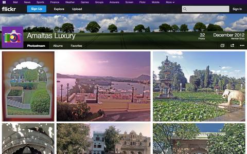 Screenshot of Flickr Page flickr.com - Flickr: Amaltas Luxury's Photostream - captured Oct. 27, 2014