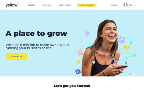 Screenshot of Home Page yellow.co.nz - Digital Marketing Solutions For New Zealand Businesses | Yellow® NZ - captured Jan. 17, 2020