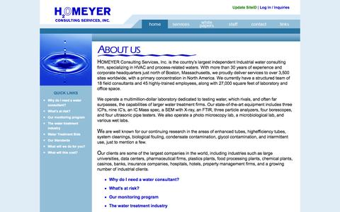 Screenshot of Home Page homeyer.com - Homeyer Consulting Services, Inc. - captured Oct. 3, 2014