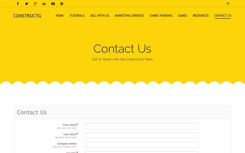 Screenshot of Contact Page constructg.com - Contact us | Questions and Suggestions - ConstructG - captured Oct. 28, 2014