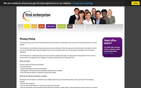 Screenshot of Privacy Page first-enterprise.co.uk - Privacy Policy | First Enterprise - captured Oct. 6, 2014