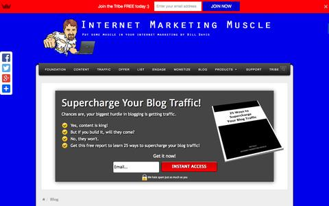Screenshot of Blog internet-marketing-muscle.com - Learn All About Internet Marketing: Strategies, tactics, and tips - captured Sept. 30, 2014