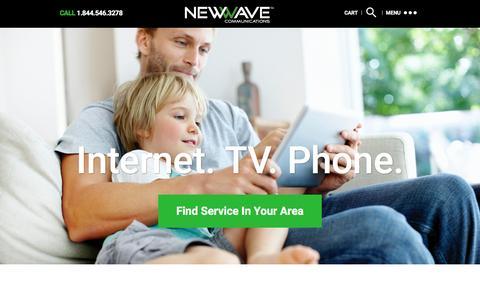 Screenshot of Home Page newwavecom.com - NewWave Communications - captured Feb. 14, 2016