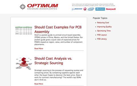 Screenshot of Blog optimumdesign.com - Optimum Design Associates Blog - captured Nov. 29, 2015
