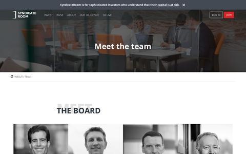Screenshot of Team Page syndicateroom.com - Meet the team | SyndicateRoom - captured Nov. 7, 2018