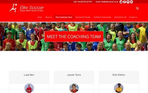 Screenshot of Team Page elite-soccer.co.uk - Team – Elite Soccer - captured July 29, 2017
