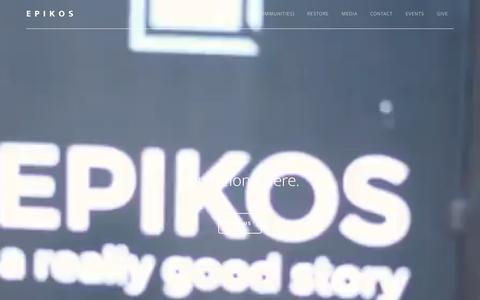 Screenshot of Home Page epikoschurch.com - Epikos - You Belong Here - captured July 20, 2018