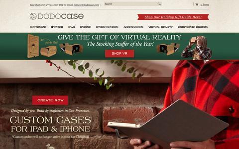 Screenshot of Home Page dodocase.com - iPad Cases & Covers for iPad Air, Mini & more | DODOcase - captured Dec. 20, 2015