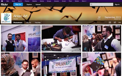 Screenshot of Flickr Page flickr.com - Flickr: AhlanArt's Photostream - captured Oct. 23, 2014