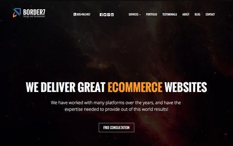 Shopify Partner, Bigcommerce Design, PrestaShop Expert | Border7