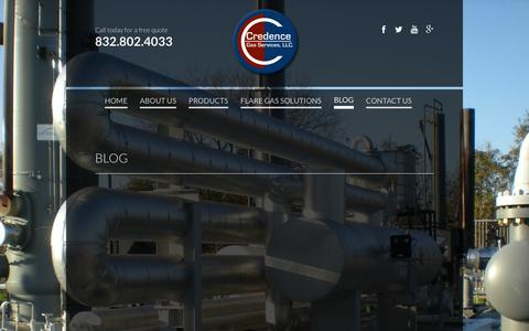 Screenshot of Blog credencegasservices.com - BLOG - captured Feb. 1, 2016