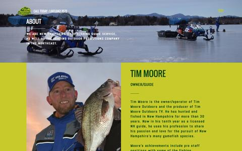 Screenshot of About Page timmooreoutdoors.com - Tim Moore Outdoors - About - captured Aug. 11, 2016