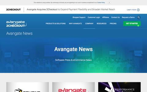 Screenshot of Press Page avangate.com - eCommerce Trends | Latest Software Press and eCommerce News - captured May 31, 2017