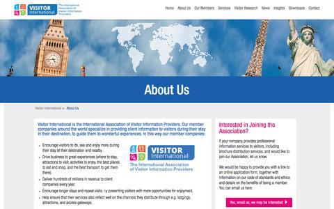 Screenshot of About Page visitorinternational.com - About Us - Visitor International - captured Jan. 29, 2017
