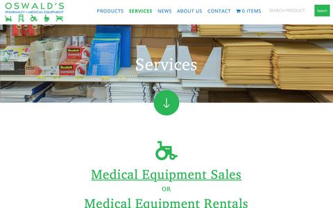 Screenshot of Services Page oswaldspharmacy.com - Our Services | Oswald's Pharmacy - captured Oct. 15, 2018