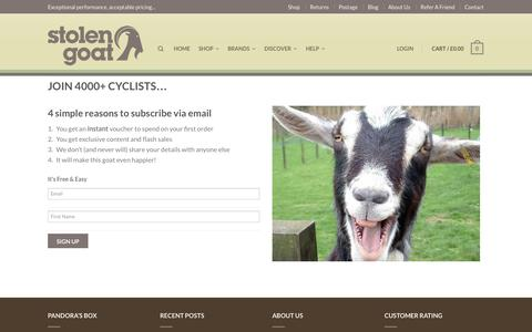 Screenshot of Signup Page stolengoat.com - Join 4000+ cyclists... - captured Oct. 9, 2014