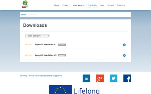 Screenshot of Products Page agroskill.eu - AGROSKILL - captured Oct. 27, 2014