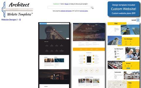 Screenshot of Home Page website-templates-architect.org - Website Templates Architecture Custom Website Template Architecture Website Design Templates - captured June 14, 2016