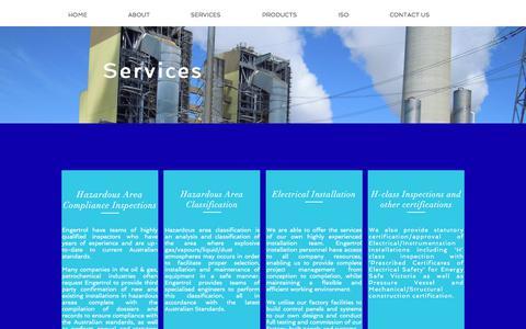 Screenshot of Services Page engertrol.com.au - engertrol | SERVICES - captured Aug. 7, 2017