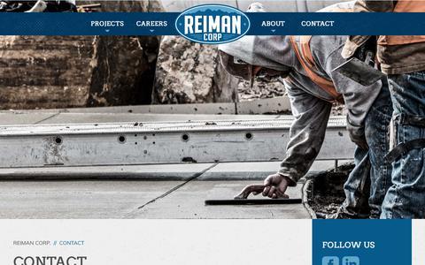 Screenshot of Contact Page reimancorp.com - Contact - Reiman Corp. - captured Nov. 7, 2017