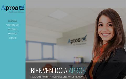 Screenshot of Home Page apros.pe - Bienvenido - Apros - captured Sept. 30, 2014