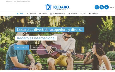 Screenshot of Home Page kedaro.com - Kedaro International - captured Feb. 12, 2016