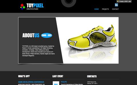 Screenshot of Home Page toypixel.com - Toy Pixel - captured Oct. 7, 2014